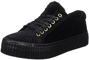 COOLWAY Jazzy, Zapatillas para Mujer, Negro (Abk), 38 EU