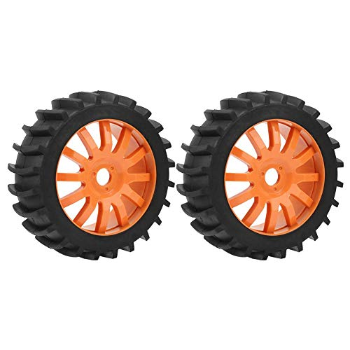 Alomejor 2pcs 4.6in RC Tires Wheels 1/8 RC Car Remote Control Truck Neumáticos de Goma para Racing RC Off-Road On-Road…