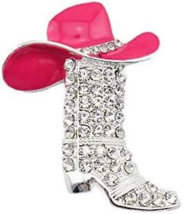 wangk Retro Vintage Shoes Brooches Women Metal Pink Rhinestone Flower Bowknot Shoes Brooch Pins Cadeaux