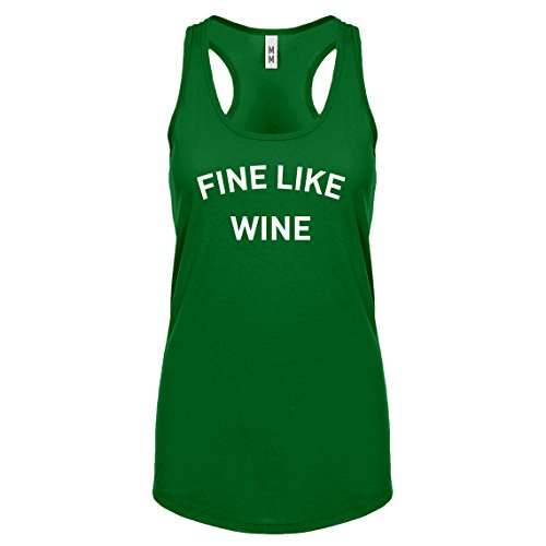 Indica Plateau Racerback Fine Like Wine X-Large Kelly Green Womens Tank Top