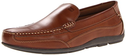 Tommy Hilfiger Men's Dathan Driving Style Loafer, Light Brown Leather, 10 M US
