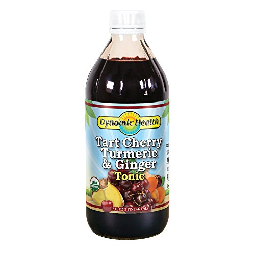Dynamic Health Tart Cherry Turmeric and Ginger Tonic Supplement, 16 Ounce (Dynamic Health Cranberry Juice Concentrate 16 Oz)