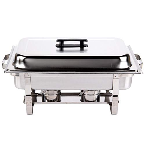 (Chafer Single Tray 8 Qt. Set Commercial Stainless Steel Full Size Food Warmer Buffet)