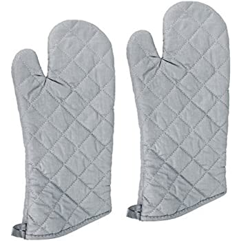 New Star 32086 Silicone Oven Mitts/Gloves, 15-Inch, Set of 2