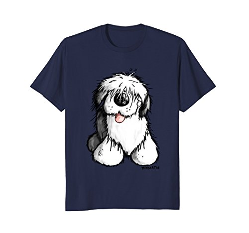 Happy Old English Sheepdog T-Shirt - Bobtail - Dog - Gift