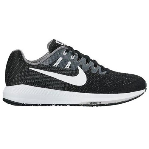 Nike Men's Air Zoom Structure 20 Running Shoe Black/White/Cool Grey 8