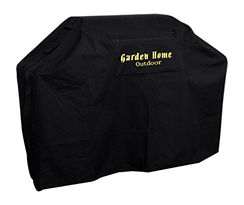 Garden Home Outdoor Grill Cover 600D, Water Resistant, Air Vents, Padded Handles, Elastic Hem Cord - Heavy Duty Burner Gas BBQ Grill - Garden Grill