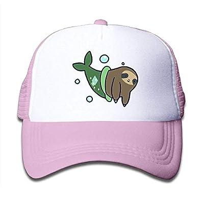 Kids Mermaid Sloth Funny Mesh Cap Trucker Hats Baseball Cap Plain Hat