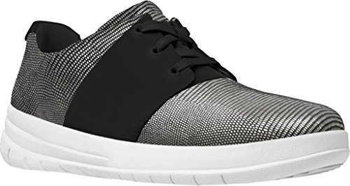 Fitflop Deportivo-pop X Negro Impresión De Lagarto De Zapatillas Negro