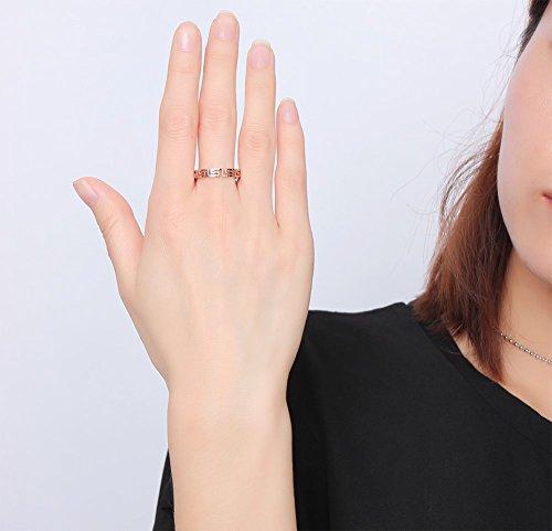 Vnox Bague de mariage en filigrane en acier inoxydable à motif en acier inoxydable pour fille féminine,or rose