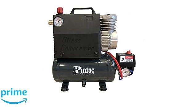 PINTUC 10225A Compresor Monobloc 0.36 W, 230 V: Amazon.es: Bricolaje y herramientas