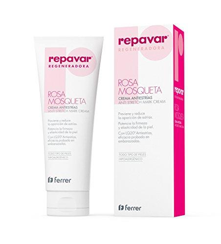 REPAVAR REGENERATE Anti-Stretch Mark Cream 250ml - Cream Containing Rosehip...
