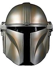 Gankchen Mandalorian Cosplay Mask Light Weight Soft PVC Helmet Mandalorian Costume Masqurade