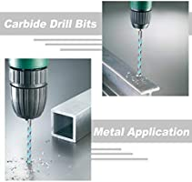 Durable Storage Case -Drills Through Concrete Brick QWORK 5 Pcs Masonry Drill Bit Set Drywall and Other Masonry Wood Strengthened Carbide Tip Chrome Plated Plastic Tile