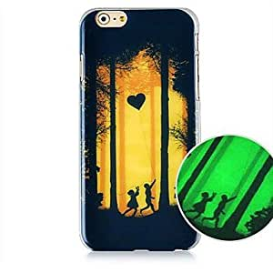 QHY Girl And Boy Pattern Luminated Hard Back Case for iPhone 6