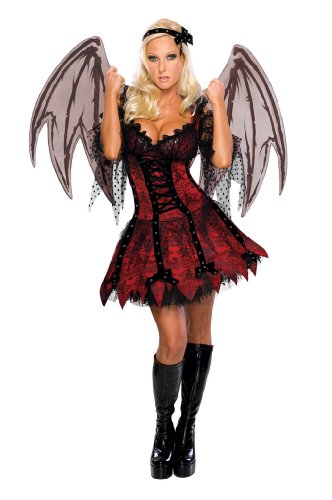 Sexy Vampire Costumes For Women (Secret Wishes Sexy Vampire Fairy Costume, Red, Small)