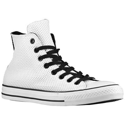 Converse Chuck Taylor High Top Sneaker (13 B(M) US Women / 11 D(M) US Men, White-Black)