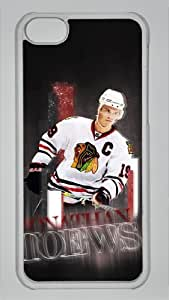 JONATHAN TOEWS BLACKHAWKS Custom PC Transparent Case for iPhone 5C by icasepersonalized