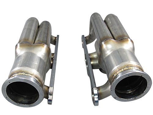 Cxracing Twin Single Turbo Header Small Block Chevy SBC GM 265 283 302 305 307 327 350 400 (Turbo Motor Twin)