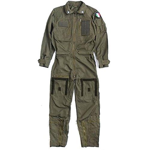 イタリア軍放出ノメックス(難燃性)フライトカバーオール未使用デットストック《48(M相当)》 ホビー エトセトラ ミリタリー ウェア top1-ds-2036101-ah [簡素パッケージ品] B07BK4G6DS