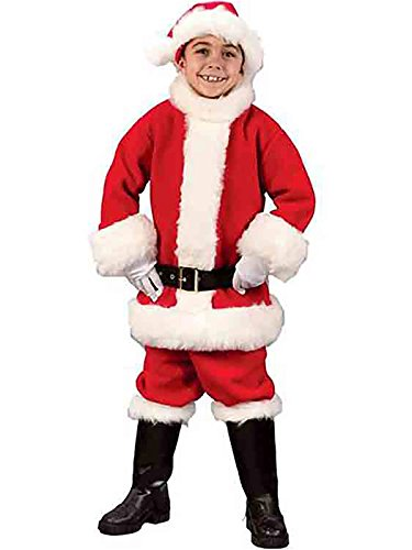 Flannel Santa Costume - Child Medium White