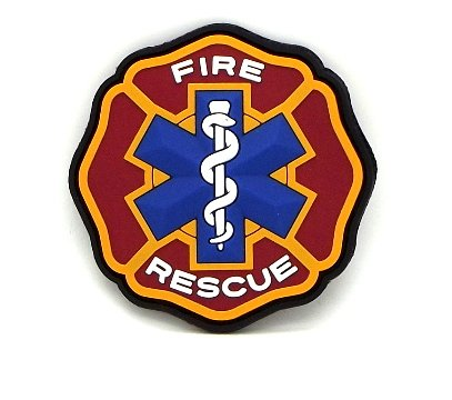 Fire Rescue Patch - EMT Paramedic Firefighter Fire Rescue PVC Patch