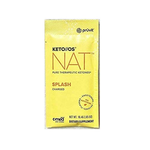 Pruvit Keto//OS NAT CHARGED, BHB Salts Ketogenic Supplement - Beta Hydroxybutyrates Exogenous Ketones for Fat Loss, Workout Energy Boost Through Fast Ketosis. 20 Sachets (Splash) 1