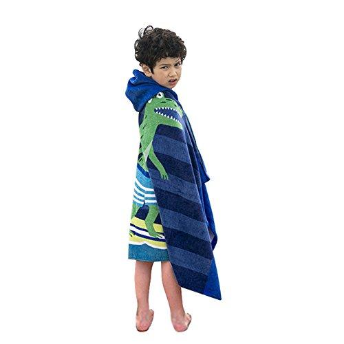 (Cute Cartoon Baby Kid's Hooded Bath Towel Toddler Boy Girls Beach Towel)