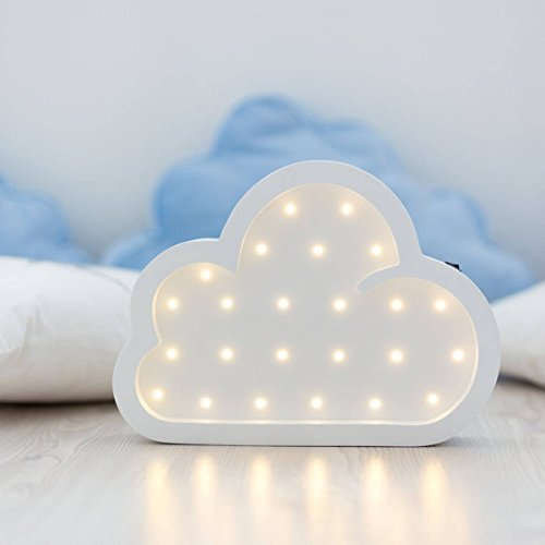 Cloud Night Light Cloud Marquee Battery Operated Kids Room Night Light Cloud Lamp Cloud LED Light Bedroom Party Decor(White)