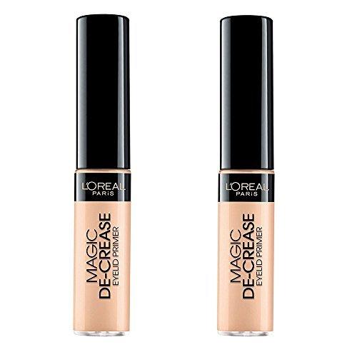 Decrease Eye Shadow Base - Cosmetics by L'Oréal Magic De-Crease Eyelid Primer (Pack of 2)