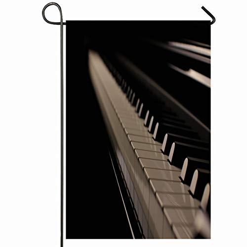 Ahawoso Outdoor Garden Flag 12x18 Inches Piano Music Keys Grand Light Pianist Keyboard Design Seasonal Home Decorative House Yard Sign