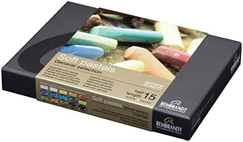 ターレンスジャパン(Talens Japan) Rembrandt Soft Pastel Cardboard Box Set - 15 Half Stick General Selection - Art Supplies