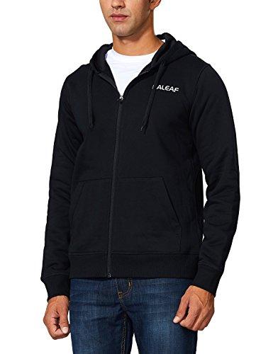 Baleaf Men's Thermal Fleece Running Hoodie Full-Zip Sweatshirt Black Size ()