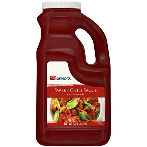 Minor's Sweet Chili Sauce, Hot Sauce, Golden Chutney Flavor for Dipping Spring Rolls, Ready to Use , 4.7 lb ()