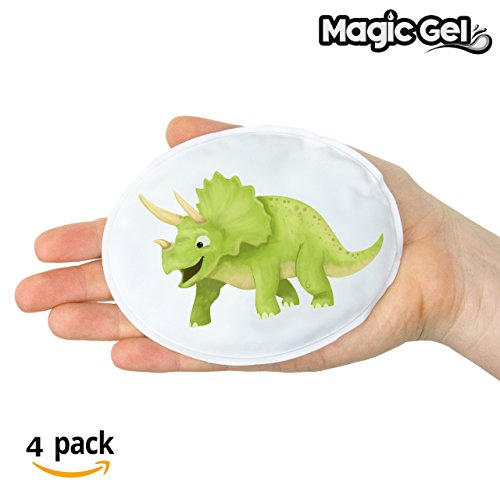 4 x Instant Hand Warmers with Click Heat - Reusable Dinosaur Themed Hot...
