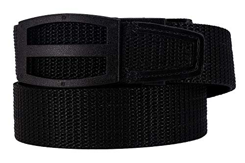 Nexbelt 2019 Titan Black Men's EDC Tactical Belt Ratchet System Technology Mens Nylon Gun Belts