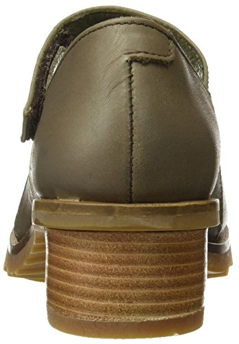 El Naturalista N5100 Ibon Kentia, Zapatos con Tira Vertical para Mujer Gris (Plume)