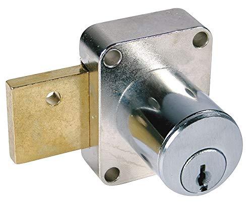 Compx National Pin Tumbler Cam Door Lock, DullChrome, 107 - C8173-107-26D
