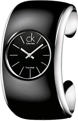 Calvin Klein Gloss K6093101 - Reloj de Mujer de Cuarzo, Correa de Acero Inoxidable Color Negro