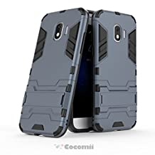 Cocomii Iron Man Armor Galaxy J2 Pro 2018/Grand Prime Pro Case NEW [Heavy Duty] Premium Tactical Grip Kickstand Shockproof Hard Bumper Shell [Military Defender] Full Body Dual Layer Rugged Cover for Samsung Galaxy J2 Pro 2018 (I.Black)