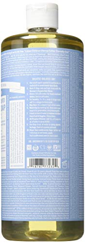 Dr. Bronners 32 Ounce Pure Castile Soap – Liquid44 Unscented44 Baby Mild