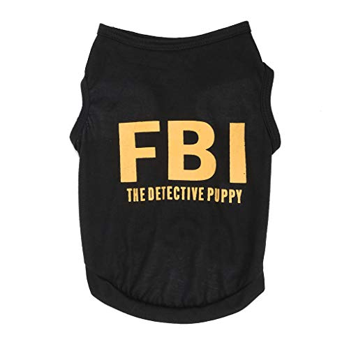 Smdoxi Fashion pet Spring and Summer FBI Letter