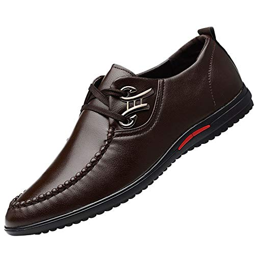 Respctful ◉Business Shoes for Men Slip-On Shoe Leather Slip-On Dress Loafer Shoe Brown -