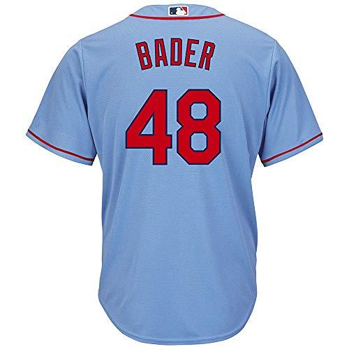 jerseyball Men/Women/Youth Harrison_#48_Bader_Light_Blue Buttoned Baseball_Jersey
