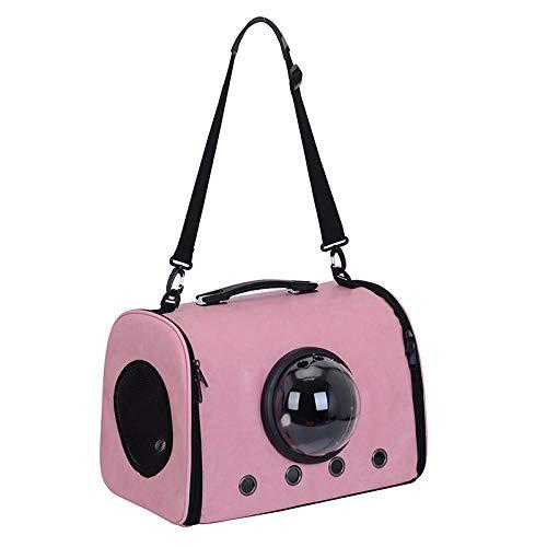 QKEMM Katzen Kleine Hunde Hundetasche Hundebox Tragbare Diagonaltasche mit Einer Schulter Comfort Weiche für Haustiere…