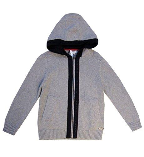 Boss Hooded Cardigan (Basic Logo Wool Blend)