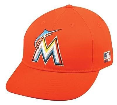 2013 Adult FLAT BRIM Miami Marlins Alternate Orange/Red Hat Cap MLB Adjustable