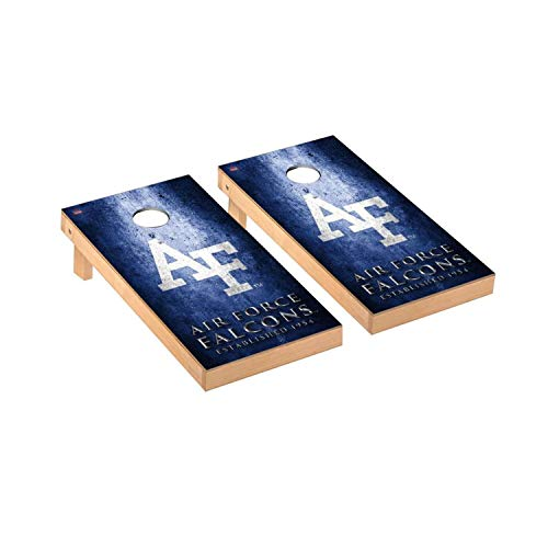 Victory Tailgate Regulation Collegiate NCAA Museum Series Cornhole Board Set - 2 Boards, 8 Bags - Air Force Academy - Falcons Air Game Force