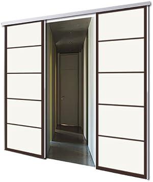 tixelia – Puerta Corredera con galandage 2 vantaux diseño Kyoto ...