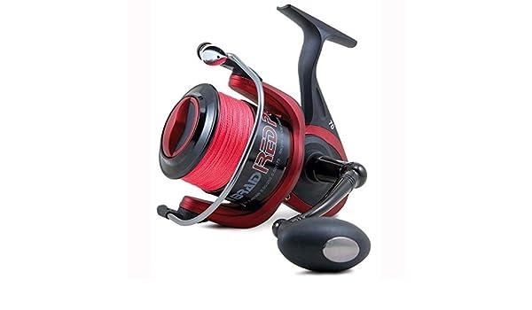 Lineaeffe Carretes de Pesca Braid Red Power II Embobinado 7000 Spinning Bolo/ñesa Feeder Trucha Rio